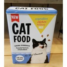 Voorraad blik kattenbrokken Nostalgic Art