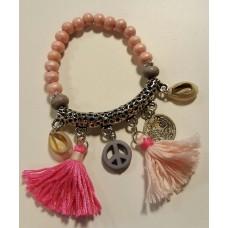 Ibiza armbandje Pink Schelp