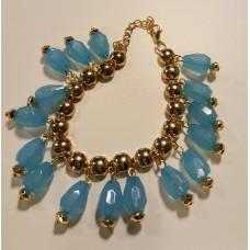 Ibiza Armband met hangertjes Blue