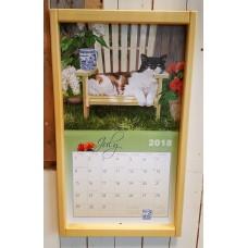 Lang kalenderlijst blank
