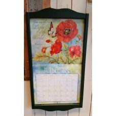 Lang kalenderlijst antiek groen