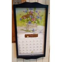 Lang kalenderlijst donker blauw