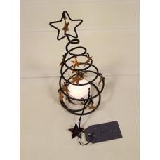 Metalen Kerstboompje met sterretjes goud