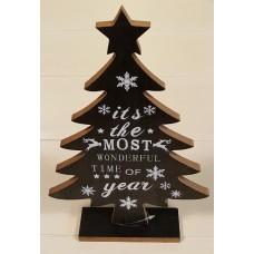 Kerstboom Zwart met tekst its the most...