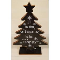 Kerstboom Zwart met tekst It is the Season...