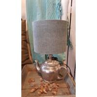 Lamp Colmore by Diga theepot Blauwe kap