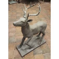 Resin Deer DarkGrey Home Society