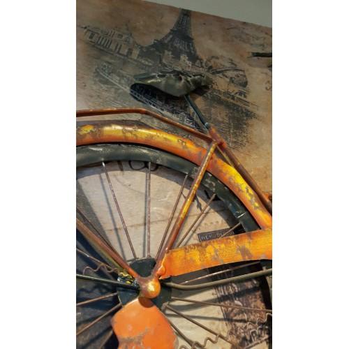 Metalen 3 d schilderij fiets for Metalen decoratie fiets