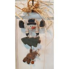 Houten hanger Snowman-Tree-Bear Appletree