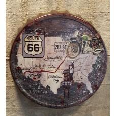 Route 66 Metalen kroonkurk 3 D