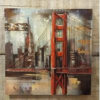 Metalen  3 D schilderij Bridge