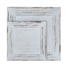"Long Island Living blauw ""white wash"" houten dienblad"