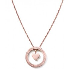 Speechless Rosé ketting met Quote