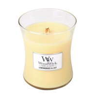 WoodWick® Medium Candle Lemongrass en Lily