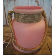 Sfeerlicht zacht roze met stoer touw S
