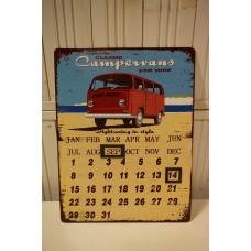 Metalen Kalender Volkswagen