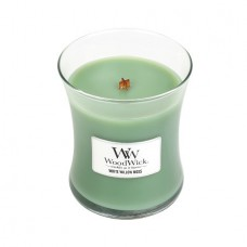 WoodWick® Medium Candle White Willow Moss